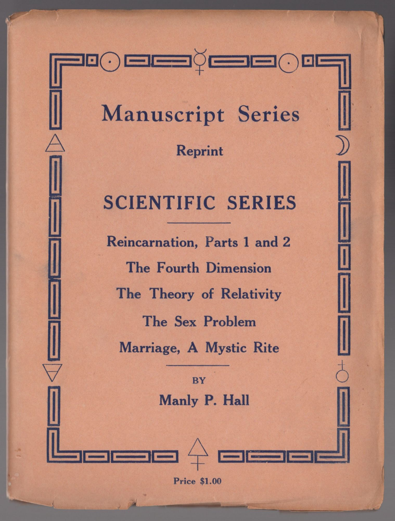 Manuscrip Series, Reprint, `scientific Series' six manuscript lectures