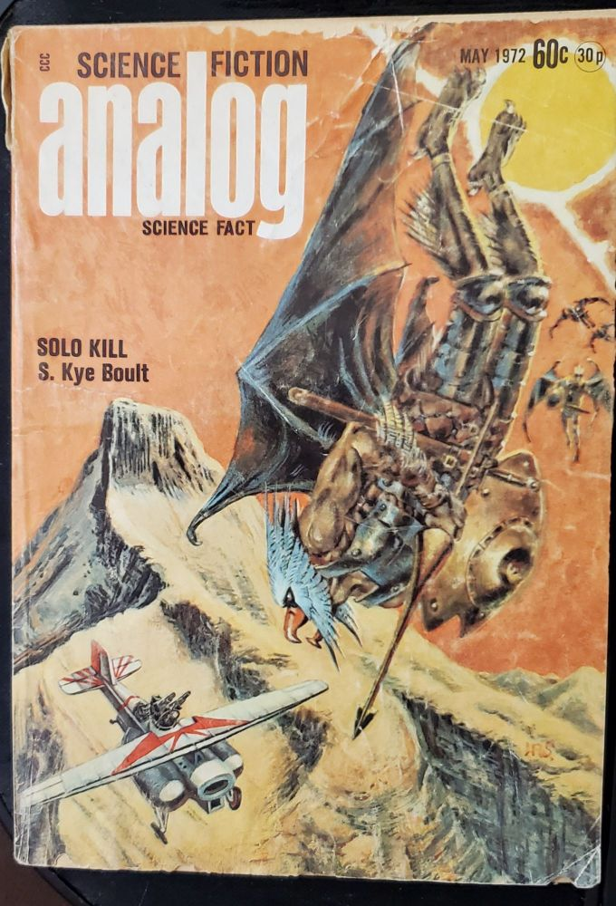 Analog Science Fiction Science Fact, 1972 & 1973 & IF Worlds of Science Fiction August 1973. Authors.