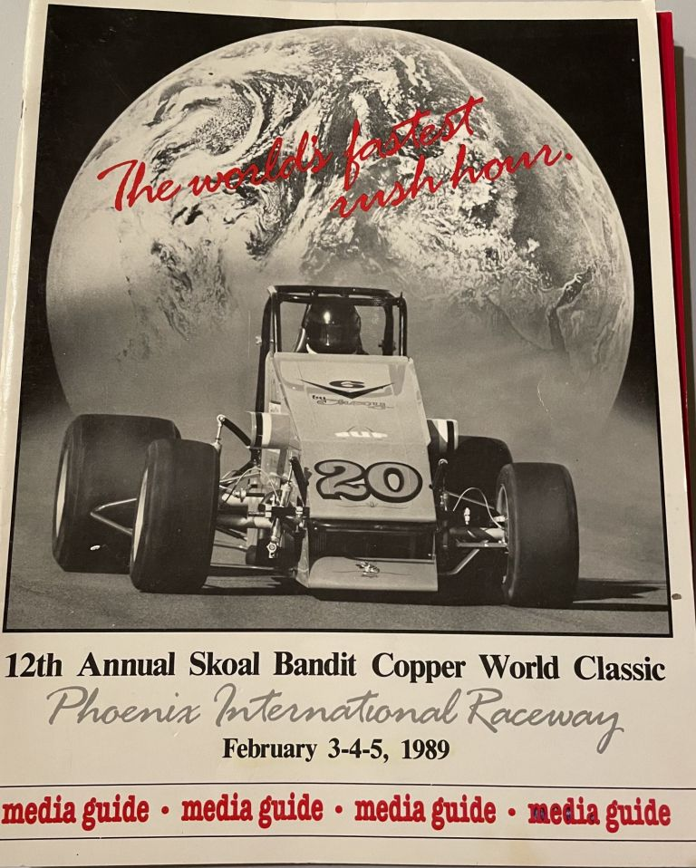 12th Annual Skoal Bandit Copper World Classic Phoenix International Raceway February 3-4-5, 1989, Saugus Speedway LA's Place to Race Home of 1991 Turkey Night, 21st Hulman Hundred Indiana State Fairgrounds Friday Night May 2th, 2001, Ted & T. J. Hollingsworth's Thunder in the Dome January 20, 1996, State Fair Indiana 36th Annual Hoosier 100 September 10, 1988, 3rd Annual Hoosier Dome Invitational USAC Midget Races, Ted Hollingsworth's Hoosier Dome Invitational X USAC Midget Racing Spectacular Saturday, January 29, 1994. anon.
