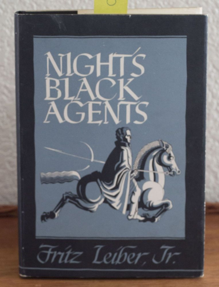 Night's Black Agents. dust jacket, Fritz Jr. Leiber, Ronald Clyne.