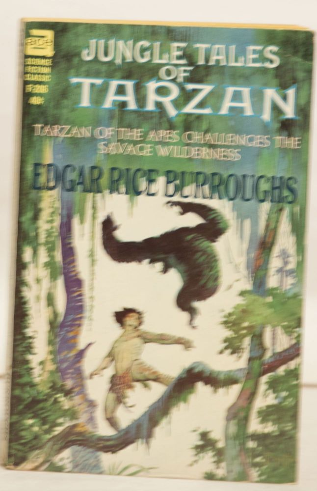 Jungle Tales of Tarzan F-206 40¢ Tarzan of the Apes Challenges the Savage Wilderness. Edgar Rice Burroughs.