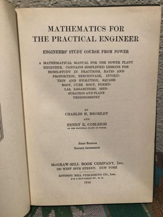 Mathematics for the Practical Engineer: Engineers' Study Course From Power; a Mathematical Manual for the Power Plant Engineer. Contains Simplified Lessons...Mensuration and Plane Trigonometry