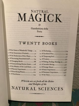 Natural Magick Wherein are set forth all the Riches and Delights of the NATURAL SCIENCES