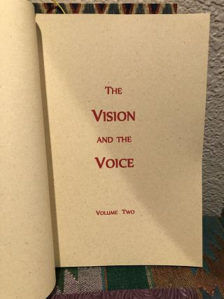The VISION and the VOICE Box Set w/ A Brief Abstract. (Set of 3 hand-bound books in wooden box) Limited to 80 copies)
