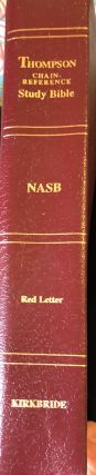 The Thompson Chain-Reference Bible; New American Standard