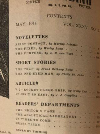 Astouding Science Fiction May 1945