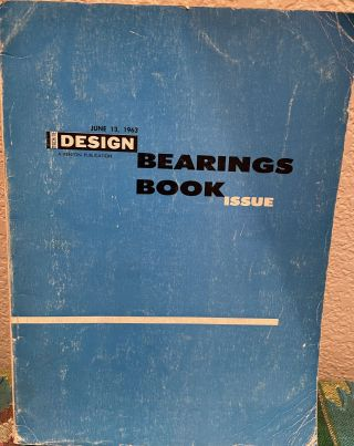 Machine Design Bearings Book Issue. Colin Carmichael