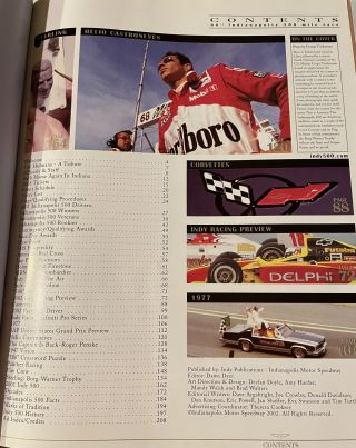 Indianapolis 500 Official Program 1990, 1991, 1992, 1994, 1995, 1997, 2002
