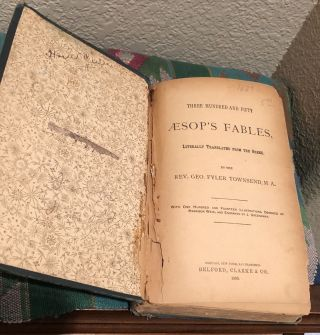 Three Hundred and Fifty Aesop's Fables Literally Translated From the Greek
