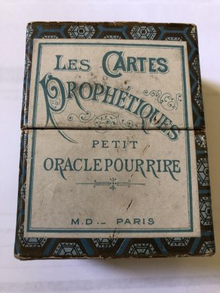 Les Cartes Prophetiques Petit Oracle Purrire Rare Instructions Included. Anon