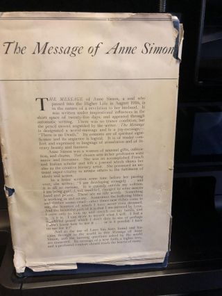 The Message of Anne Simon. n. a.