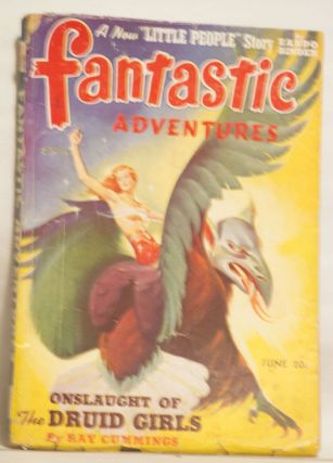 Fantastic Adventures June 1941 25¢ Vol. 3 No. 4. B. G. Davis.