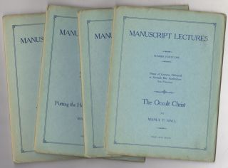 Nine Manuscript Lectures Later Titled: Manuscript Series Plus Two Mimeos of Later Lectures. Manly...